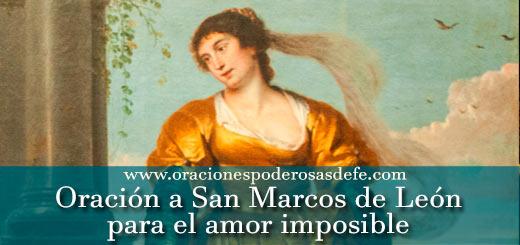 Oración a San Marcos de León para el amor imposible