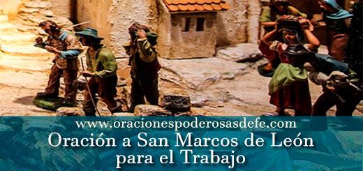 Oración a San Marcos de León para el trabajo