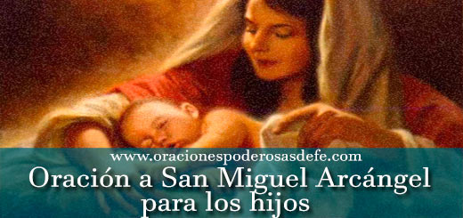 Oración a San Miguel Arcángel por los hijos