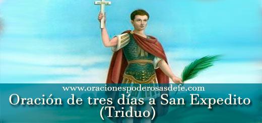 Oración de tres días a San Expedito Triduo