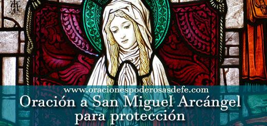 Oración a San Miguel Arcángel para protección