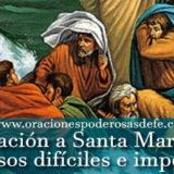 Oración a Santa Marta para casos difíciles e imposibles