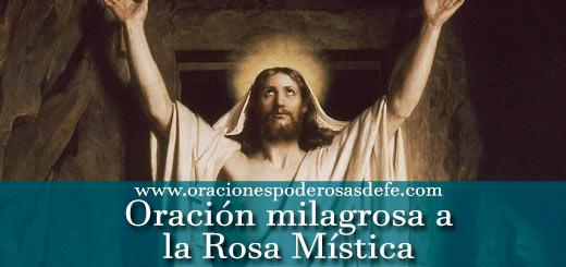Oración milagrosa a la Rosa Mística