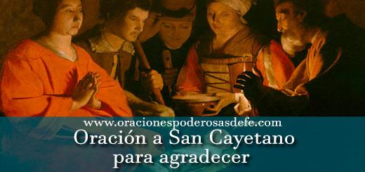 Oración a San Cayetano para agradecer