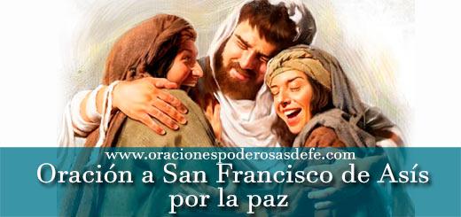Oración a San Francisco de Asís por la paz