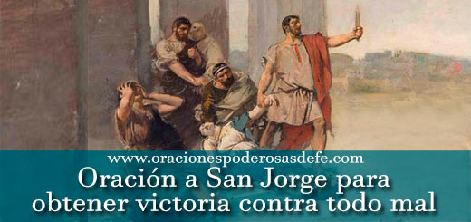 Oración a San Jorge para obtener victoria contra todo mal