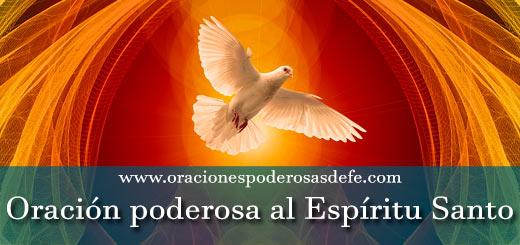 Oración poderosa al Espíritu Santo