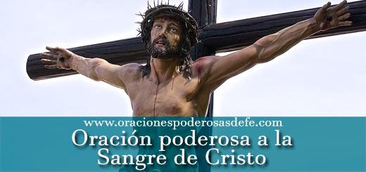 Oración poderosa a la Sangre de Cristo